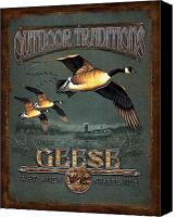Waterfowl Canvas Prints - Geese Traditions Canvas Print by JQ Licensing