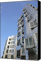 Building Materials Canvas Prints - Gehry Ii Building, Dusseldorf, Germany Canvas Print by Carlos Dominguez