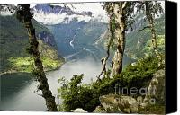 Inspirational Photograph Canvas Prints - Geiranger Fjord Canvas Print by Heiko Koehrer-Wagner