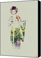 Hostess Canvas Prints - Geisha Canvas Print by Irina  March