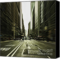 Andrew Digital Art Canvas Prints - Gelati Rush Canvas Print by Andrew Paranavitana