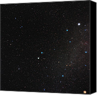 Capella Canvas Prints - Gemini Constellation Canvas Print by Eckhard Slawik