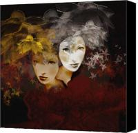 Silver Canvas Prints - Gemini Canvas Print by Maria Szollosi