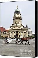 Carriages Canvas Prints - Gendarmenmarkt Berlin Germany Canvas Print by Matthias Hauser
