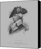 Continental Army Canvas Prints - General Anthony Wayne Canvas Print by War Is Hell Store