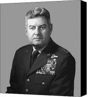 4th Digital Art Canvas Prints - General Curtis Lemay Canvas Print by War Is Hell Store