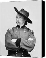 Patriot Photo Canvas Prints - General Custer Canvas Print by War Is Hell Store