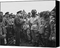 War Memorial Canvas Prints - General Eisenhower on D-Day  Canvas Print by War Is Hell Store