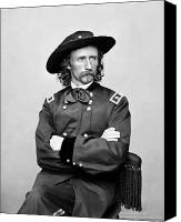 American Canvas Prints - General George Armstrong Custer Canvas Print by War Is Hell Store