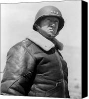 World War Two Canvas Prints - General George S. Patton Canvas Print by War Is Hell Store