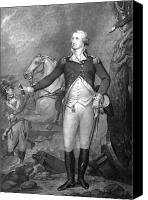 Battle Drawings Canvas Prints - General George Washington at Trenton Canvas Print by War Is Hell Store