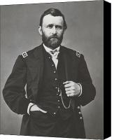 Civil War Canvas Prints - General Grant During The Civil War Canvas Print by War Is Hell Store