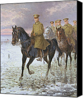 Military Uniform Painting Canvas Prints - General John J Pershing  Canvas Print by Jan van Chelminski