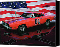 Bumpers Canvas Prints - General Lee Canvas Print by Peter Piatt
