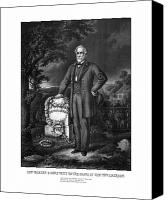 United States Drawings Canvas Prints - General Lee Visits The Grave Of Stonewall Jackson Canvas Print by War Is Hell Store