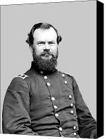Civil War Painting Canvas Prints - General McPherson Canvas Print by War Is Hell Store