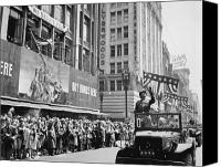 3rd Canvas Prints - General Patton Ticker Tape Parade Canvas Print by War Is Hell Store