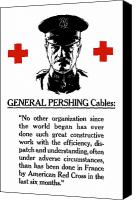 John Pershing Canvas Prints - General Pershing Cables Canvas Print by War Is Hell Store