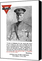 John Pershing Canvas Prints - General Pershing United War Works Campaign Canvas Print by War Is Hell Store