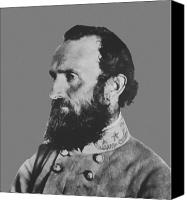 America Tapestries Textiles Canvas Prints - General Stonewall Jackson Canvas Print by War Is Hell Store