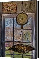 Kitchen Canvas Prints - General Store Scale Canvas Print by Susan Candelario