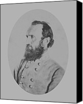 Between Mixed Media Canvas Prints - General Thomas Stonewall Jackson Canvas Print by War Is Hell Store