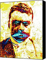 Emiliano Canvas Prints - General Zapata Canvas Print by Juan Jose Espinoza