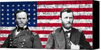War Is Hell Store Canvas Prints - Generals Sherman and Grant  Canvas Print by War Is Hell Store