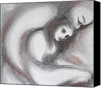 Embrace Drawings Canvas Prints - Generous I Canvas Print by Marat Essex