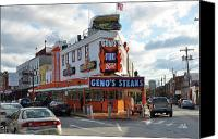 South Philadelphia Canvas Prints - Genos Steaks - South Philadelphia Canvas Print by Bill Cannon
