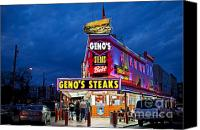 Joey Canvas Prints - Genos Steaks South Philly Canvas Print by John Greim