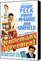 Films By Elia Kazan Canvas Prints - Gentlemans Agreement, Dorothy Mcguire Canvas Print by Everett
