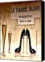 Stillettos Canvas Prints - Gentlemans Club Cannes Canvas Print by Christine Burdine