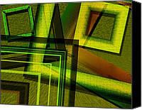 Abstract Canvas Prints - Geometric Design in Green Canvas Print by Mario  Perez