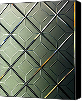 Rick Blood Canvas Prints - Geometric Glass Canvas Print by Rick  Blood