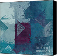Geometry Canvas Prints - Geomix 03 - s122bt2a Canvas Print by Variance Collections