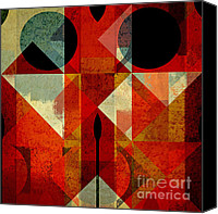 Forms Canvas Prints - Geomix-04 - 39c3at22g Canvas Print by Variance Collections