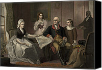 First Family Canvas Prints - George And Martha Washington Sitting Canvas Print by Everett