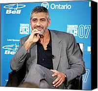 At The Press Conference Canvas Prints - George Clooney At The Press Conference Canvas Print by Everett