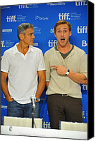 At The Press Conference Canvas Prints - George Clooney, Ryan Gosling Canvas Print by Everett
