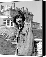 George Harrison Canvas Prints - George Harrison Beatles Magical Mystery Tour Canvas Print by Chris Walter