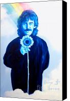 Guitarist George Harrison Canvas Prints - George Harrison Canvas Print by Purcell Pictures