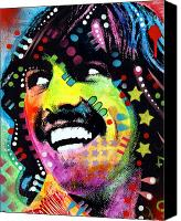 John Lennon Canvas Prints - George Harrison Canvas Print by Dean Russo
