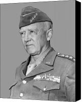 3rd Canvas Prints - George S. Patton Canvas Print by War Is Hell Store