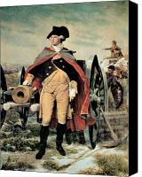 Founding Fathers Painting Canvas Prints - George Washington at Dorchester Heights Canvas Print by Emanuel Gottlieb Leutze