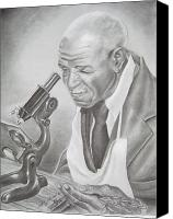 African American Art Drawings Canvas Prints - George Washington Carver Canvas Print by Ashanti A Johnson