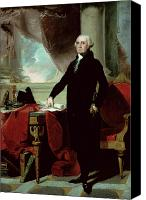 House Painting Canvas Prints - George Washington Canvas Print by Gilbert Stuart