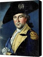 Military Uniform Painting Canvas Prints - George Washington Canvas Print by Samuel King