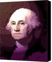 Washington Canvas Prints - George Washington Canvas Print by Tray Mead