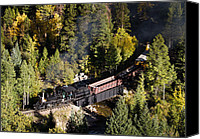 Idaho Canvas Prints - Georgetown Loop Railroad Canvas Print by Adam Pender